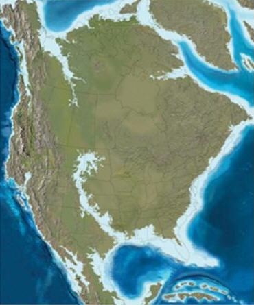 standby for north america map 65 m.y. ago photo