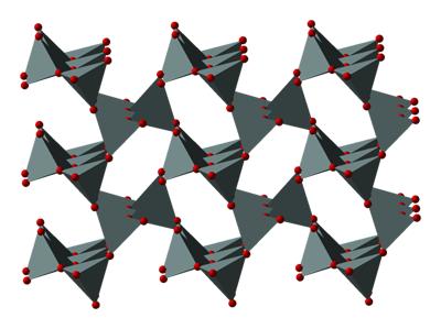 Cristobalite structure